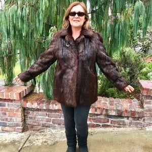 Warm Nutria Fur Coat Nice Quality Rarely Worn Nice